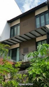 aluminium facade cum composite shelter