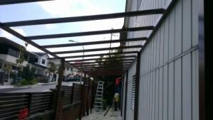 Polycarbonate Panel for Car Park Shelter