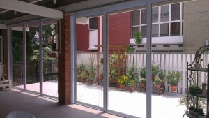 top hung aluminium sliding glass door