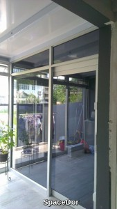 balcony enclosed with polycarbonate shelter