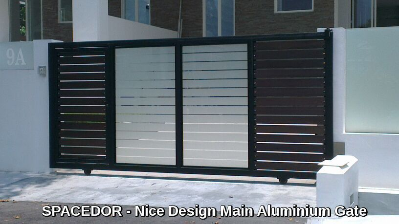 Aluminium auto gate and fence spacedor marketing pte ltd for Single gate designs for homes