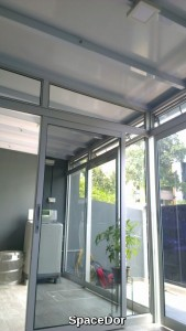 aluminium top hanging aluminium sliding door for room divider