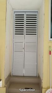 latest deign for aluminium bi-fold louvers door gate