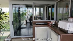Additional Room at Balcony with Sliding Glass Door