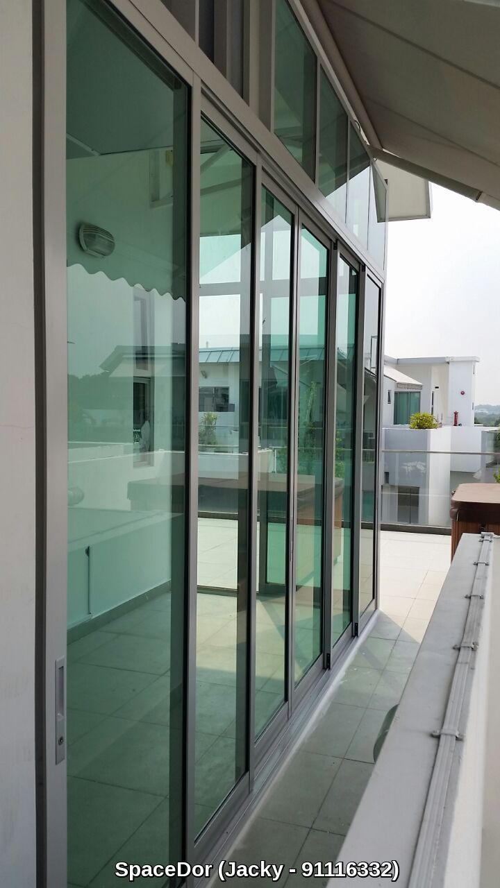 Additional room at balcony area with sliding glass door for Aluminum sliding glass doors