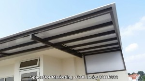 Aluminium Composite Panel Shelter Outside Private Home