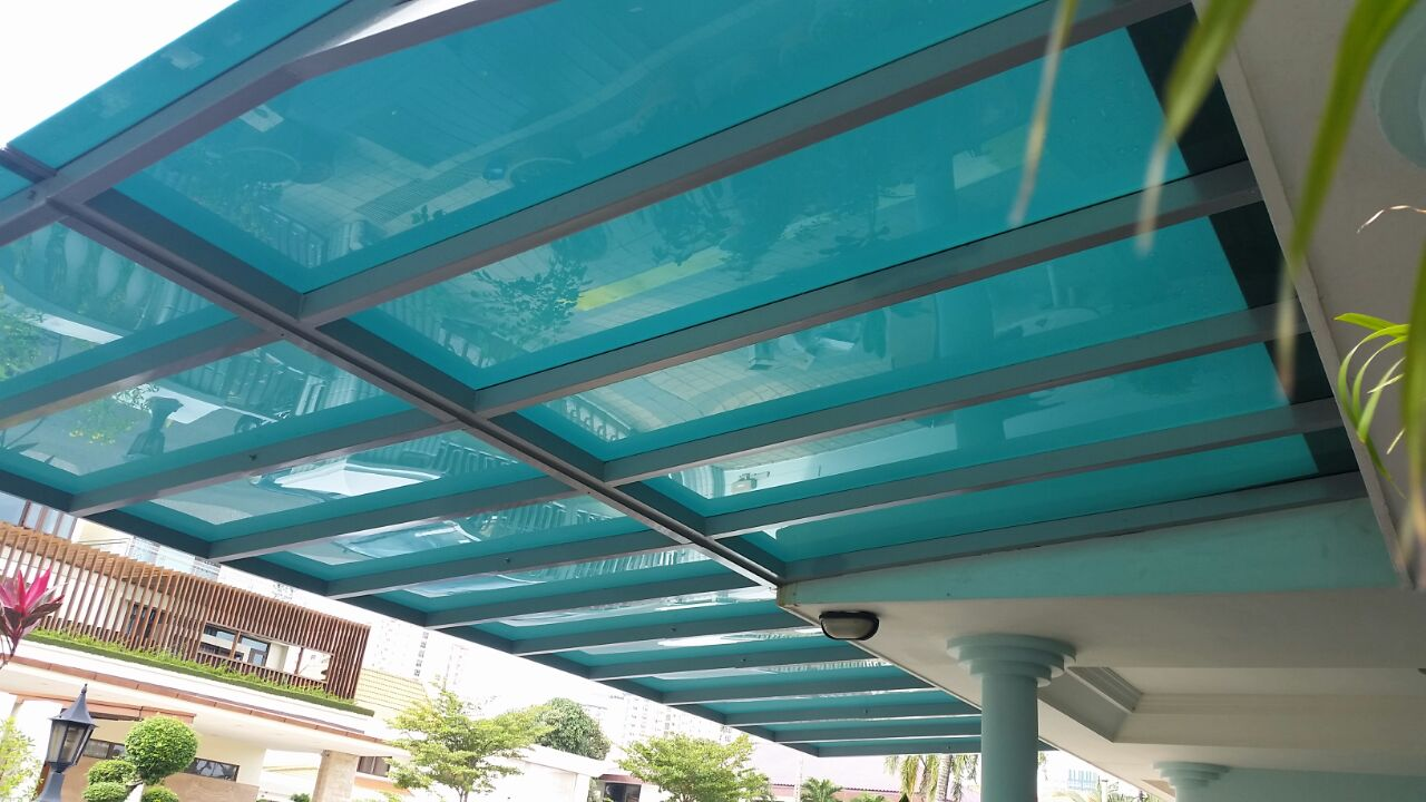 Polycarbonate shelter spacedor marketing pte ltd - Serre aluminium polycarbonate ...