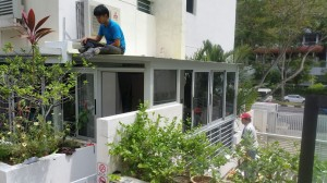 Enclosed Balcony with Aluminium Composite Panel
