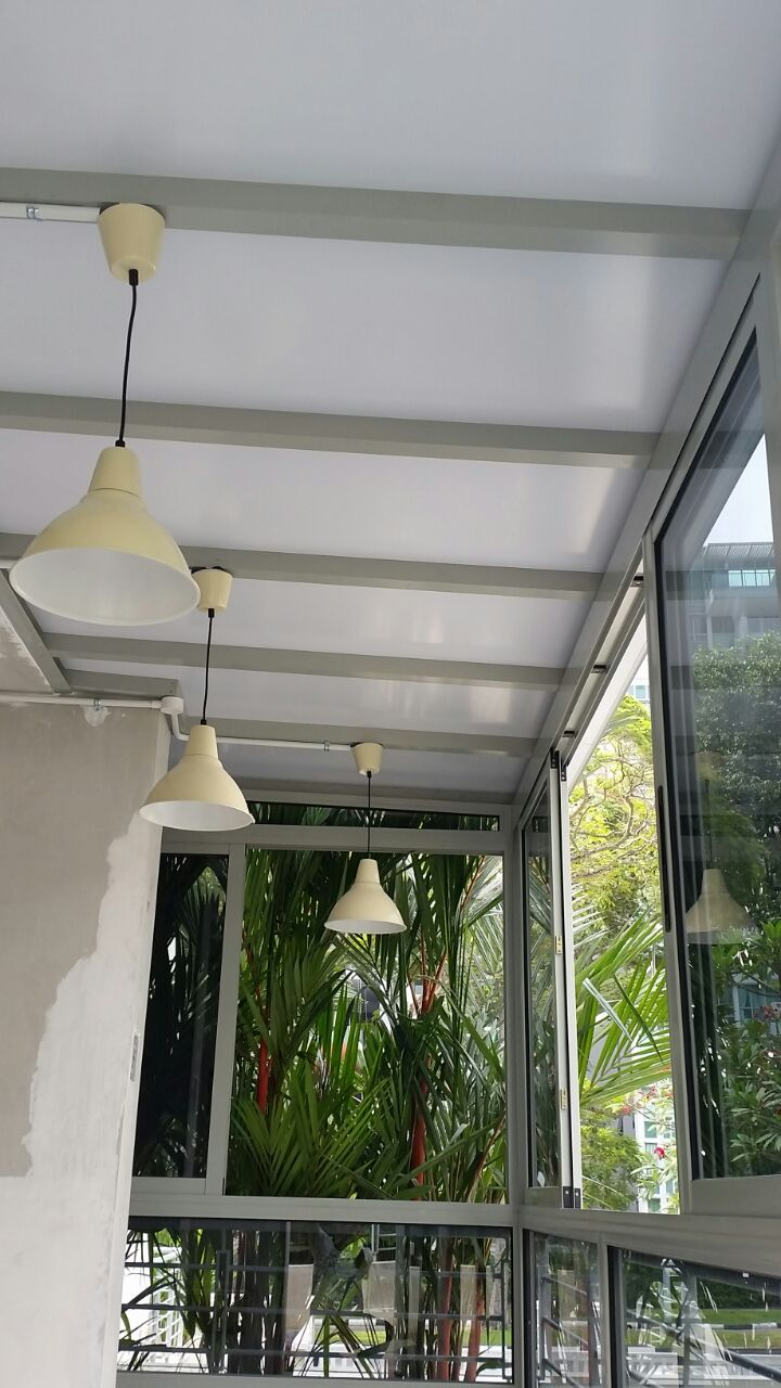 Enclosed Balcony With Aluminium Composite Panel, Sliding