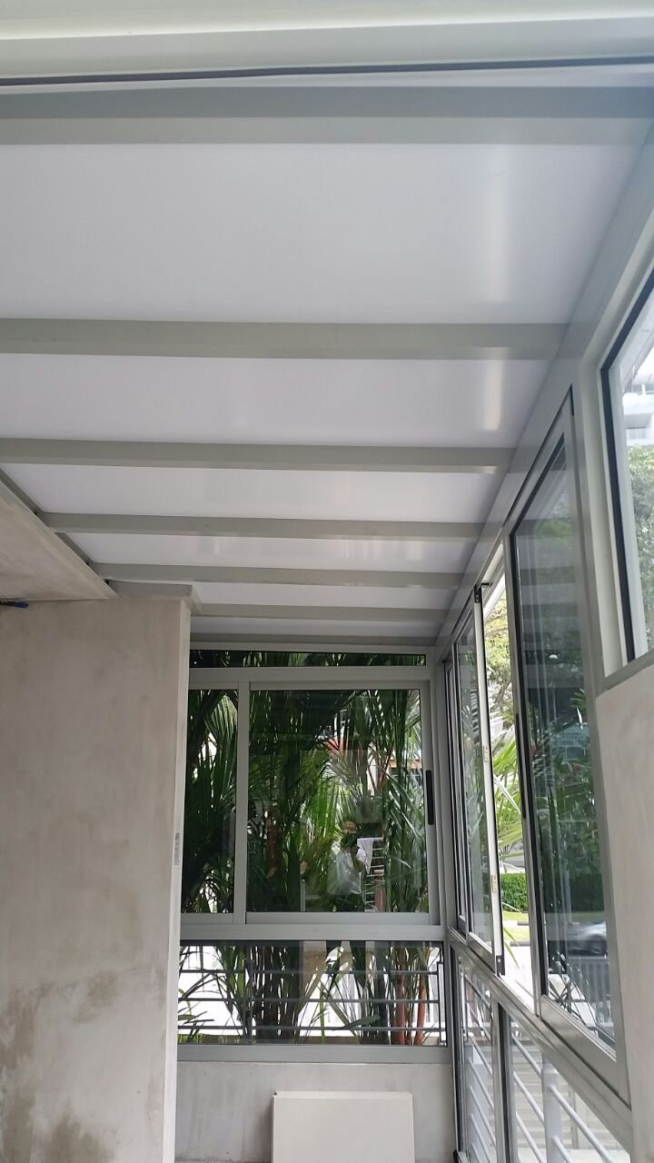 Enclosed balcony with aluminium composite panel sliding for Balcony window