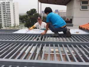 Aluminium Trellis Roofing