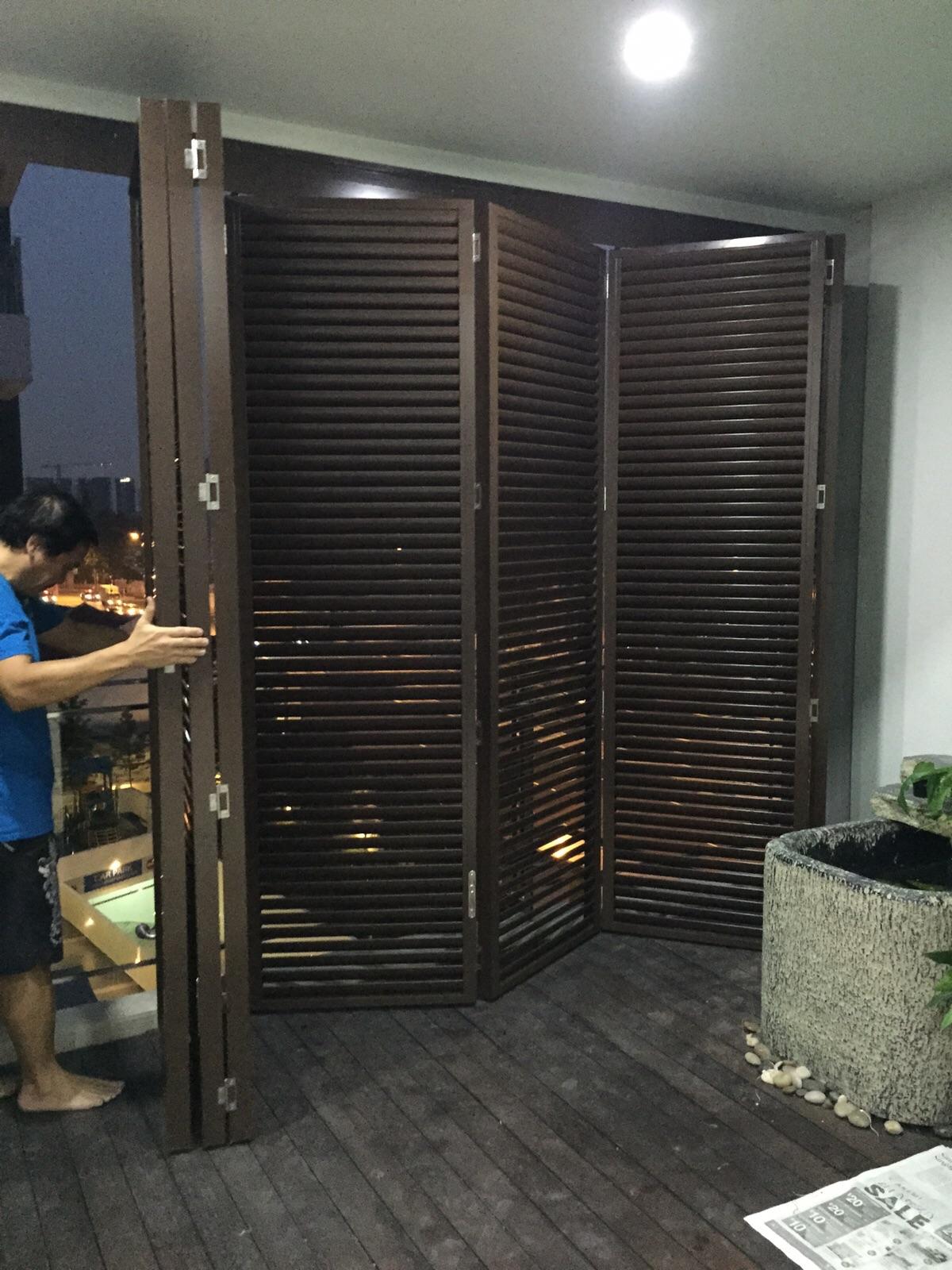 Aluminium Toilet Louvers Door Spacedor Marketing Pte Ltd