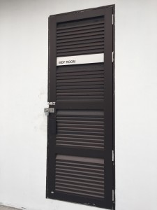 Heavy duty PUB substation aluminium louvres door