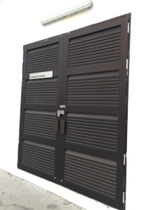 Heavy duty PUB substation louvres door