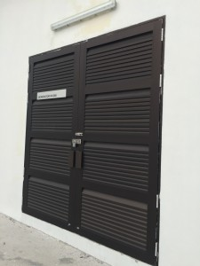 PUB substation aluminium louvres door