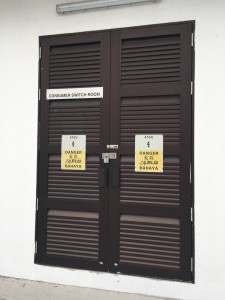 PUB substation louvres door