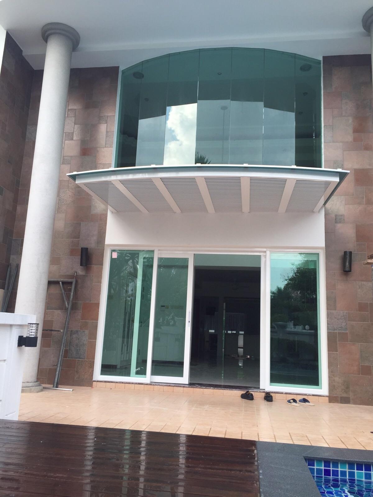 Arch Shape Aluminium Polycarbonate Canopy With Aluminium