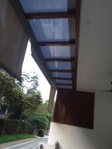 Aluminium structure polycarbonate roofing