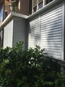 adjustable aluminium top hanging sliding louvres door