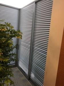 Aluminium louvres door