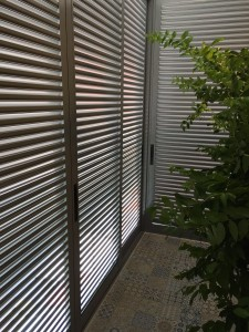 Sliding or casement aluminium louvres door for balcony area