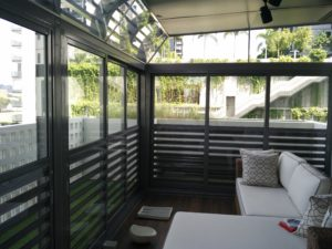Owner's ideas with combination of louver and glass