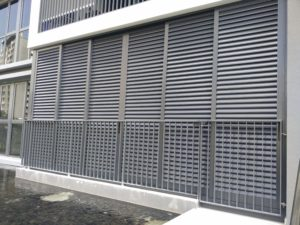 Aluminium louver for ground floor, good for privacy