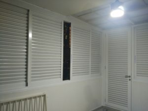 Aluminium louver for balcony and PES