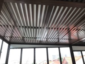 Aluminium composite shelter and trellis