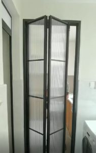 Bi-Fold, Bi-Folding Door for Toilet and Kitchen Entrance