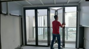 Folding Glass Door for Living Hall Balcony